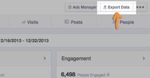 Facebook Insights Export Data
