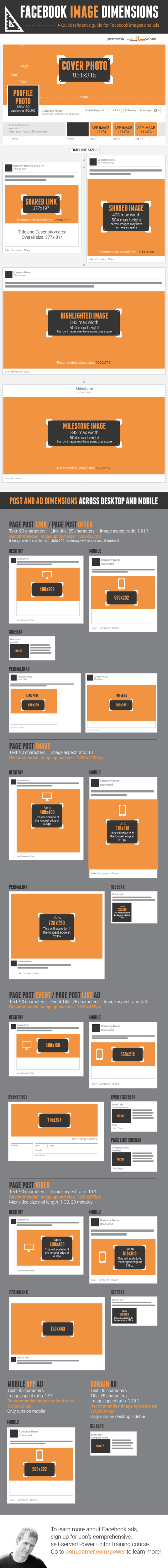 Facebook Image Dimensions [Infographic]
