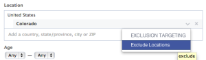Facebook Location Exclusion Targeting