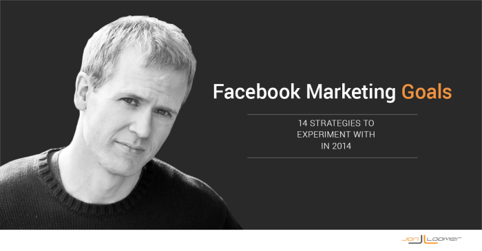 14 Facebook Marketing Goals for 2014