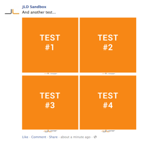 Facebook Page Post Four Images Trick