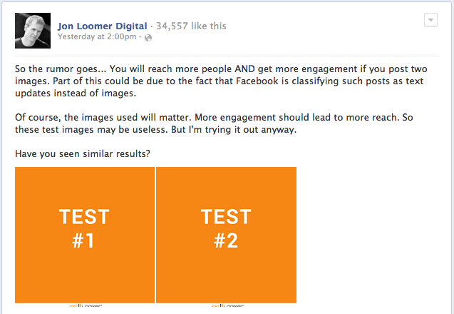 Facebook Page Post Multiple Images Trick Test