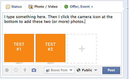 Facebook Page Post Multiple Images Trick