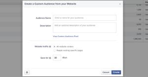 Facebook Power Editor Create Website Custom Audience