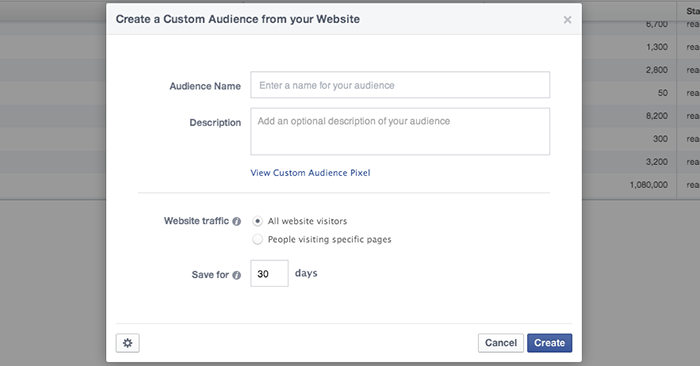Facebook Power Editor Create Website Custom Audience