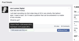 Facebook Web Insights Reach Problem