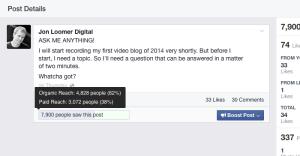 Facebook Web Insights Reach Problem