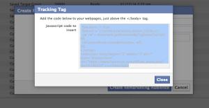 Facebook Website Custom Audience Tracking Code