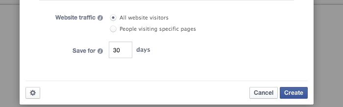 Facebook Website Custom Audience Traffic