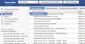 Facebook Website Custom Audiences Step 1