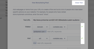 Facebook Website Custom Audiences Step 10