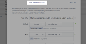 Facebook Website Custom Audiences Step 11