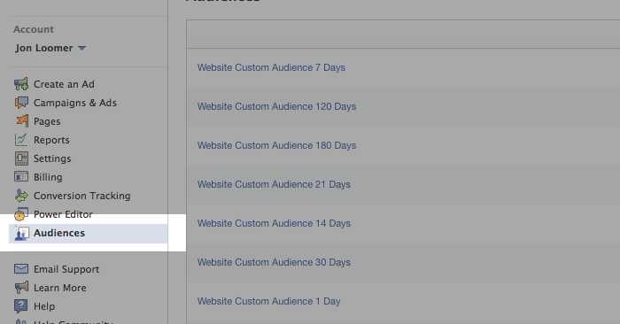 Facebook Website Custom Audiences Step 14
