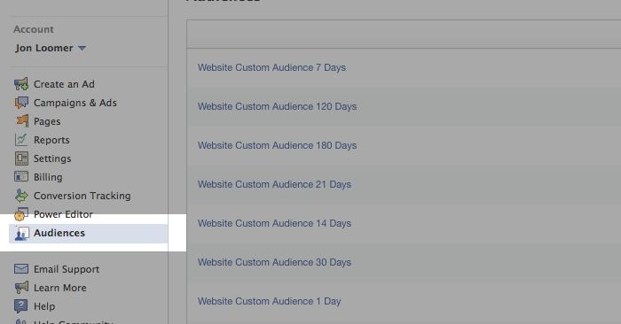 Facebook Website Custom Audiences Step 14