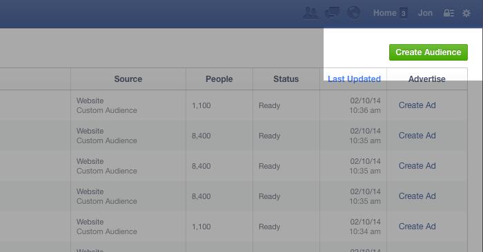 Facebook Website Custom Audiences Step 15