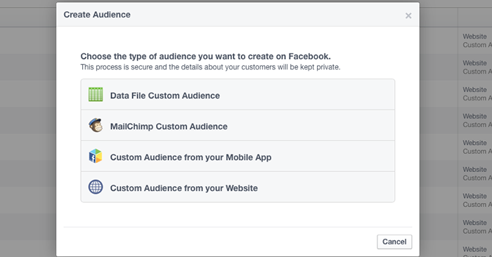 Facebook Website Custom Audiences Step 16