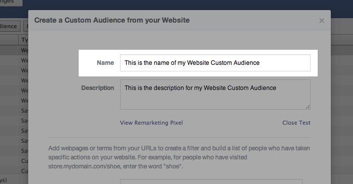 Facebook Website Custom Audiences Step 5