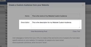 Facebook Website Custom Audiences Step 6