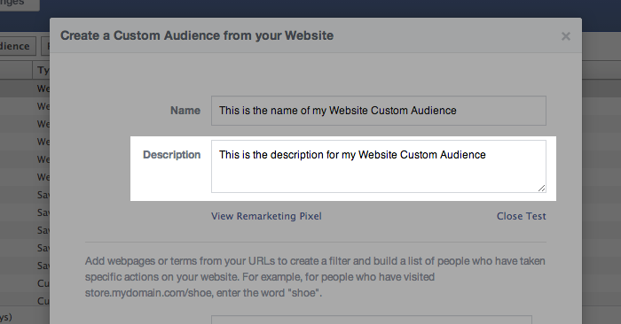 Facebook Website Custom Audiences Step 6