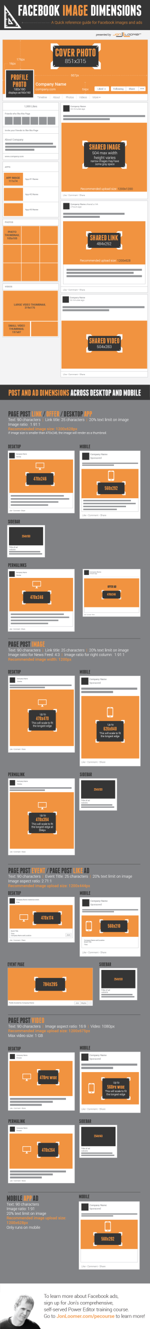 All Facebook Marketing Ads Image Dimensions 2014