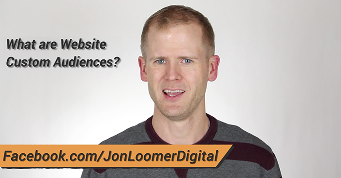 website custom audiences video Facebook Website Custom Audiences: What You Need to Know [Video]