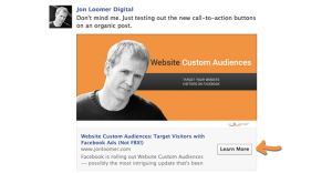 Facebook Page Post Call-to-Action Button