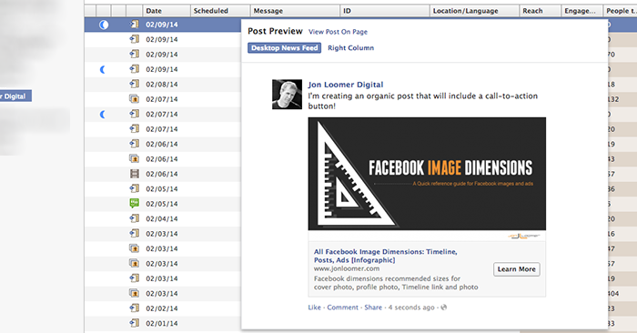 Facebook Power Editor Preview Unpublished Post