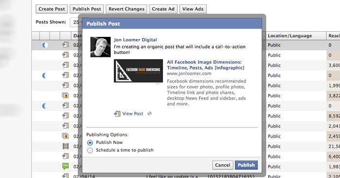 Facebook Power Editor Publish Unpublished Post