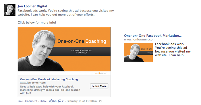 Facebook WCA One-on-One Ad