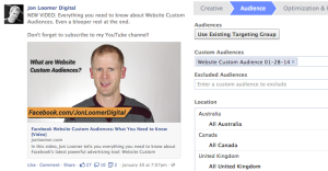 Facebook Website Custom Audiences Drive Traffic