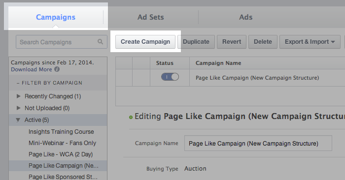 facebook campaign structure 1 Facebook Advertising Campaign Structure: A Hands On Tour