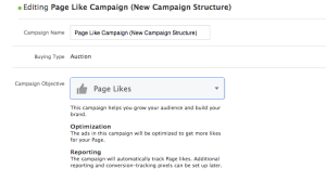 Facebook Campaign Structure Name Campaign Set Objective