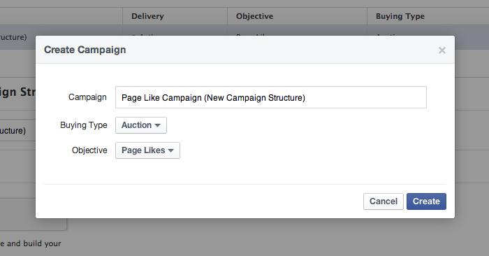 Facebook Campaign Structure Create Campaign