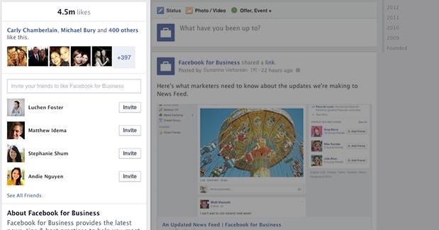 New Facebook Page Timeline Design Left Column