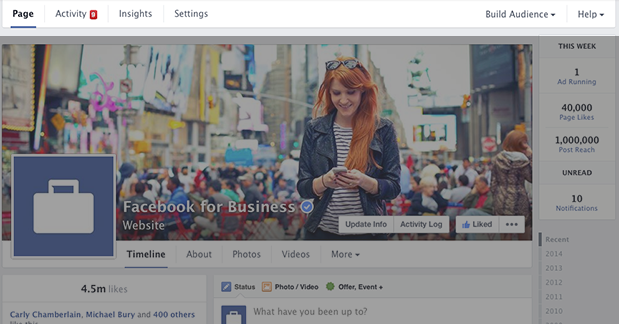 New Facebook Page Timeline Design Navigation
