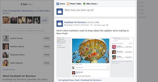 New Facebook Page Timeline Design Single Column