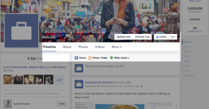 New Facebook Page Timeline Design Tabs Buried
