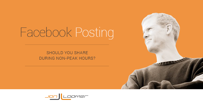 facebook posting strategies peak times Facebook Content Strategy: Is it Better to Post at Non Peak Times?