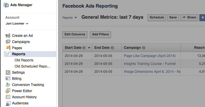 facebook ad reports click Advanced Facebook Ads: View Performance by Placement and Demographics