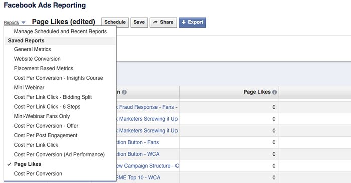facebook ad reports saved Advanced Facebook Ads: View Performance by Placement and Demographics