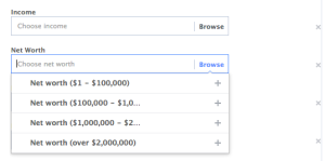 Facebook Core Audiences More Demographics: Financial