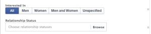 Facebook Core Audiences More Demographics: Relationship