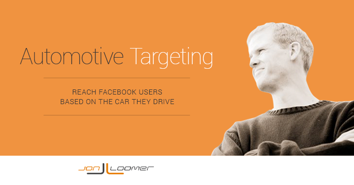 Facebook Power Editor Behavior Targeting Automobile