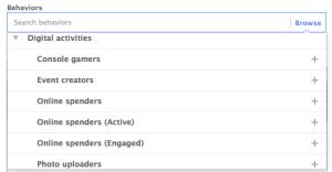 Facebook Power Editor Behaviors Digital Activities
