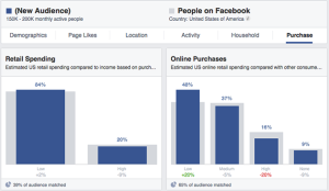 Facebook Audience Insights Purchase Retail Online
