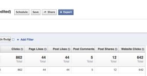 Facebook Ad Reports Clicks