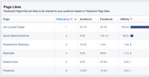 Facebook Audience Insights Page Likes Jon Loomer Digital