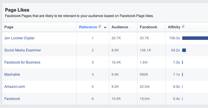 Facebook Audience Insights Page Likes Jon Loomer Digital
