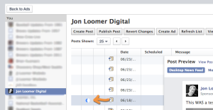 Facebook Edit Dark or Unpublished Facebook Post in Power Editor