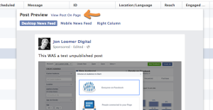 Facebook Edit Dark or Unpublished Post Power Editor